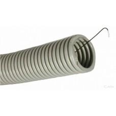 Труба ПВХ гнучка гофр. д.25мм, Light з протяжкою, сірий колір