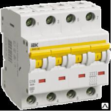 Автоматический выключатель 47-60 4Р 10А 6 кА  х-ка C ИЭК